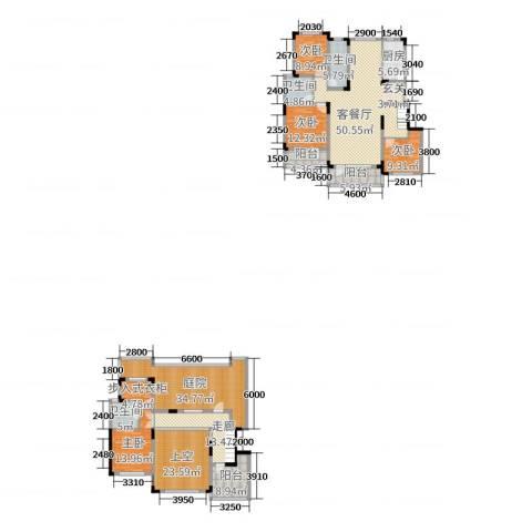 华润凯旋门4室2厅3卫1厨212.25㎡户型图