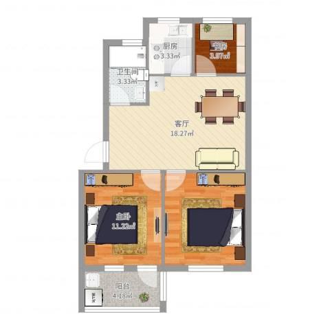 石碶北路一村2室1厅1卫1厨70.00㎡户型图