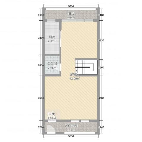 东紫园2厅1卫1厨195.00㎡户型图