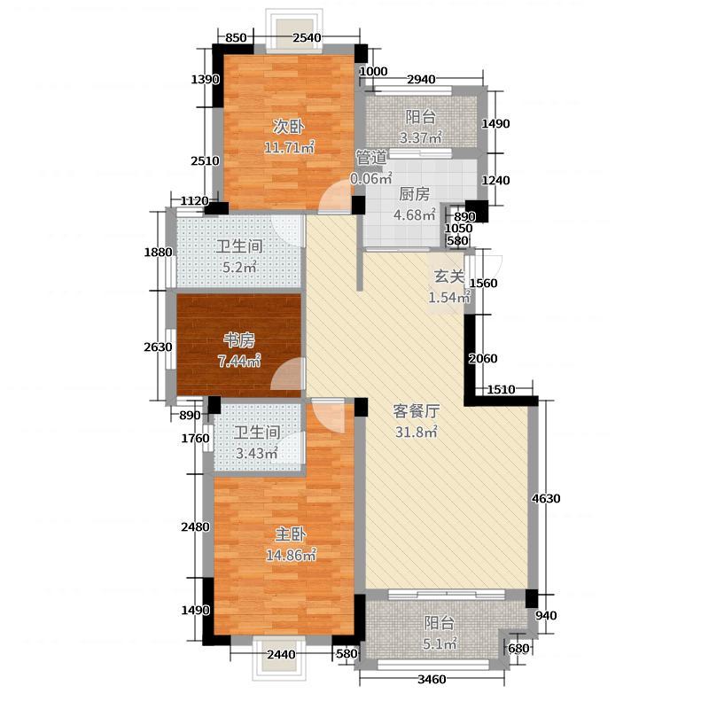 广源国际社区116.11㎡4期48栋49栋2-9层C户型3室3厅2卫1厨