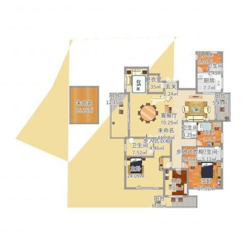 桃源居安阳花园4室2厅4卫1厨287.00㎡户型图