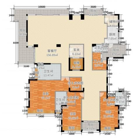 保利云禧3室2厅4卫1厨380.00㎡户型图
