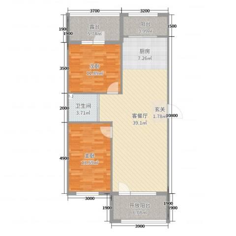 天盛名都2室2厅1卫0厨88.00㎡户型图