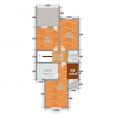 金亨世家3室0厅2卫0厨200.00㎡户型图