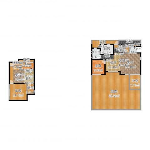 金地湾流域2室4厅1卫1厨264.00㎡户型图