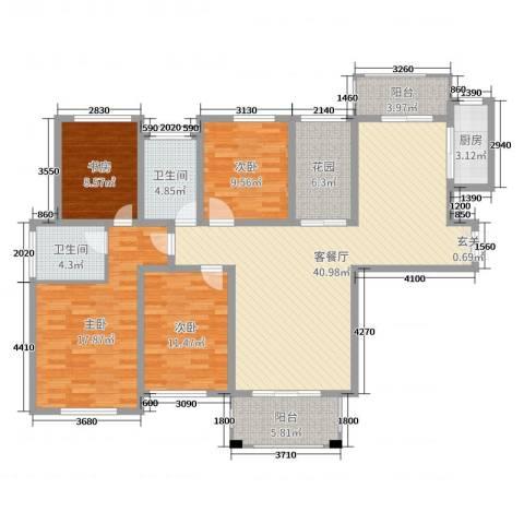 御品世家4室2厅2卫1厨144.00㎡户型图