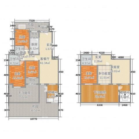 香邑溪谷4室2厅3卫1厨273.61㎡户型图