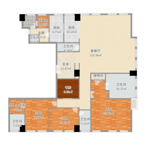 汤臣津湾一品4室2厅5卫1厨311.00㎡户型图