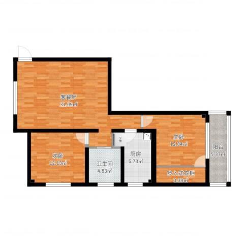 宝钢又一村2室2厅1卫1厨94.00㎡户型图