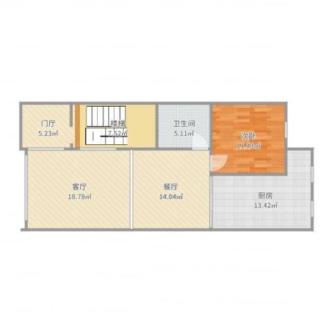 亿达玖墅(一层)1室1厅3卫1厨94.00㎡户型图