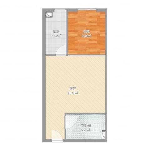 金地世家雅苑两限1居1室1厅1卫1厨40.27㎡户型图
