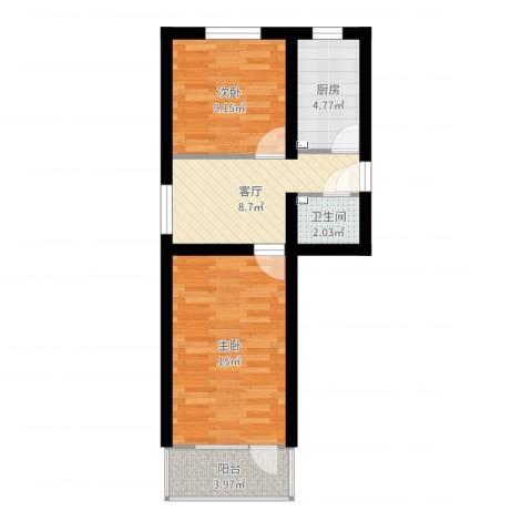 大柳树7号院基础12室1厅1卫1厨55.00㎡户型图