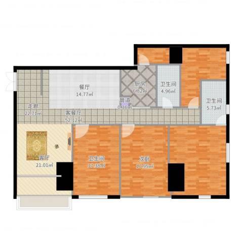 锦源国际公寓1室2厅3卫1厨183.00㎡户型图