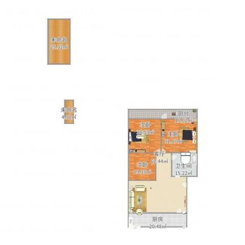 华信花园3室1厅1卫1厨294.00㎡户型图