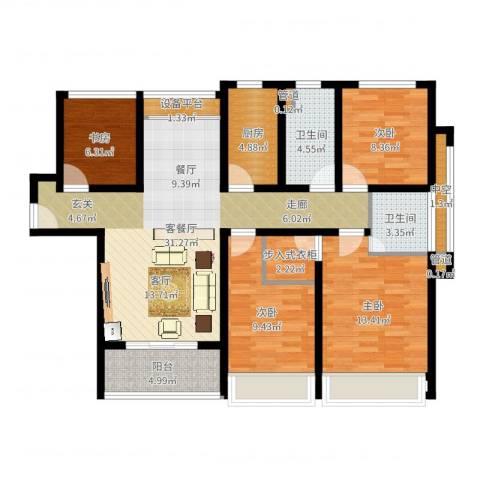 凯瑞米兰公馆4室2厅2卫1厨115.00㎡户型图