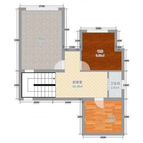 桃源山庄2室0厅1卫0厨57.00㎡户型图