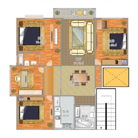 钱江四苑2室1厅1卫1厨257.00㎡户型图
