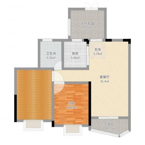 世纪城龙祥苑1室2厅1卫1厨108.00㎡户型图