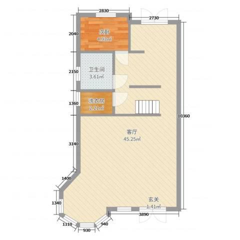 宏泰・美树1室1厅1卫0厨70.00㎡户型图