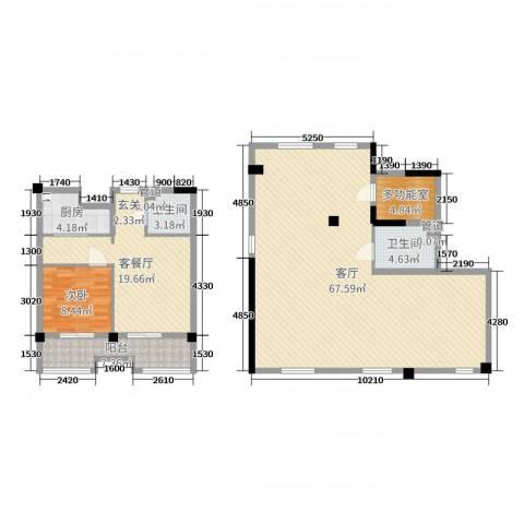 弘生世纪城1室3厅2卫1厨152.00㎡户型图