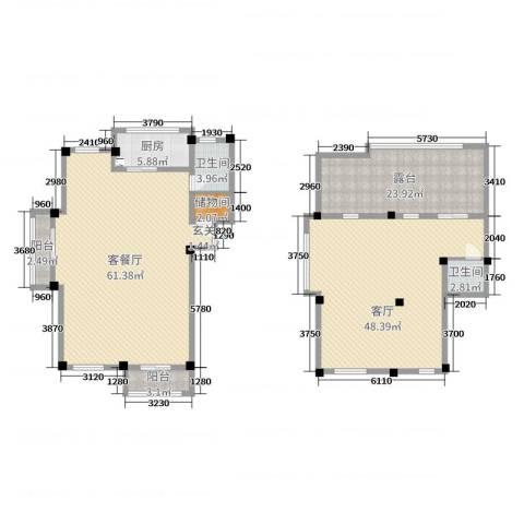 弘生世纪城3厅2卫1厨192.00㎡户型图