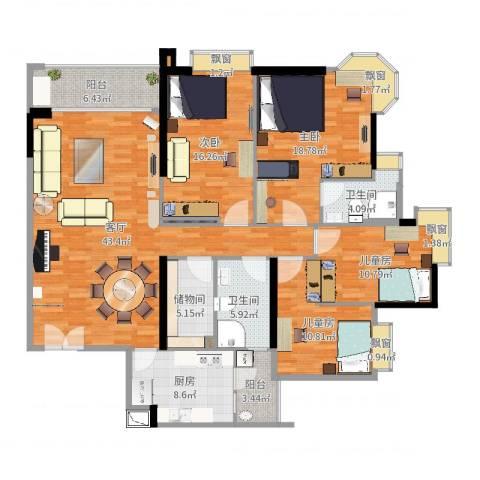 高雅湾4室1厅2卫1厨175.00㎡户型图