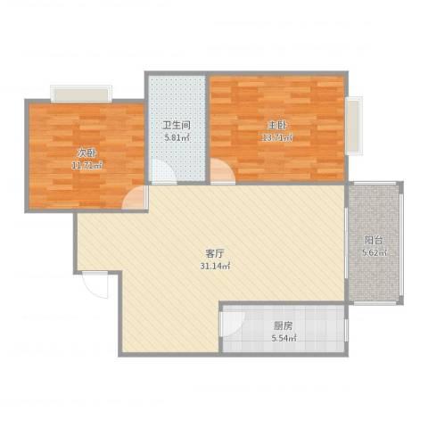 高新景园1102室1厅1卫1厨92.00㎡户型图