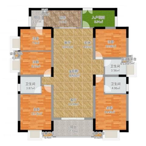 兴豪门5室2厅3卫1厨168.00㎡户型图