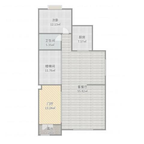 香桥郡1室2厅1卫1厨136.00㎡户型图
