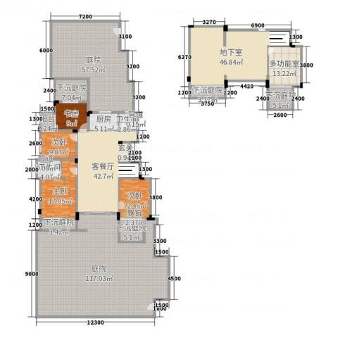 国贸仁皇4室2厅2卫1厨364.19㎡户型图