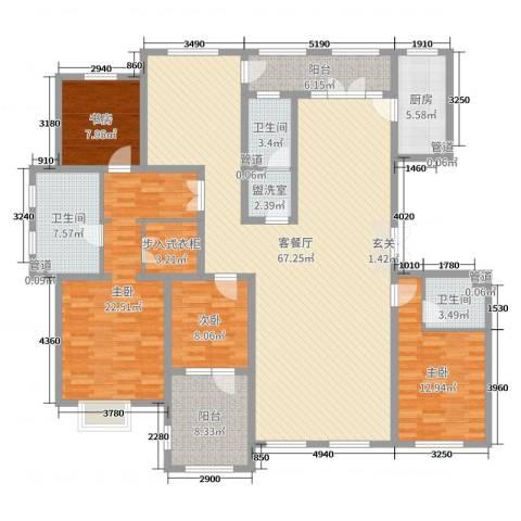 湖畔丽景4室2厅3卫1厨199.00㎡户型图
