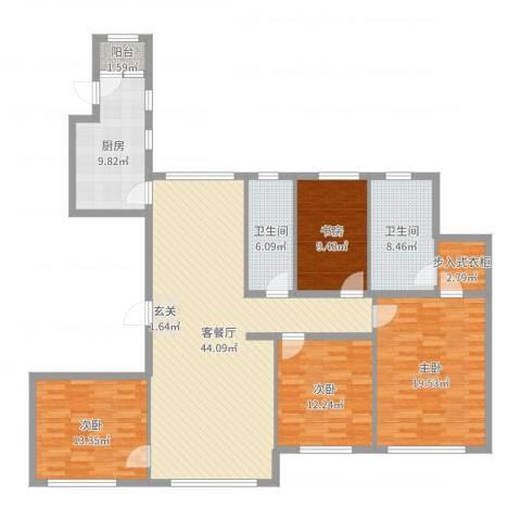 星光域4室2厅2卫1厨159.00㎡户型图