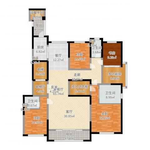 西派国际--14室2厅3卫1厨235.00㎡户型图