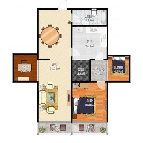 同发里3-5-5043室1厅1卫1厨99.00㎡户型图