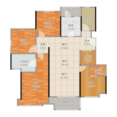 高科麓湾国际社区4室1厅2卫1厨149.00㎡户型图