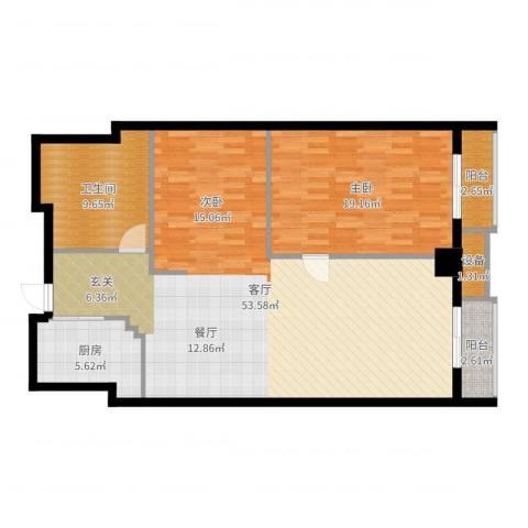 万都阿波罗1室1厅1卫1厨118.00㎡户型图
