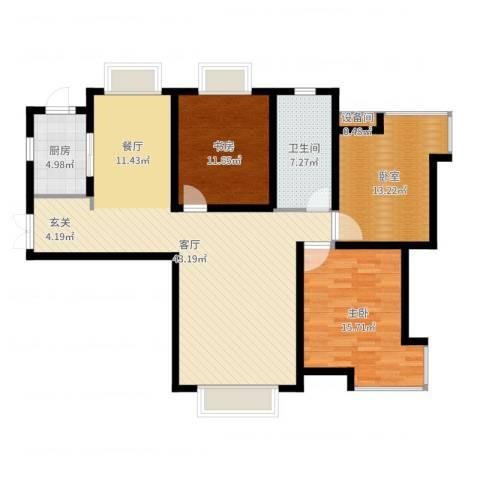 天庆格林小镇2室1厅1卫1厨121.00㎡户型图