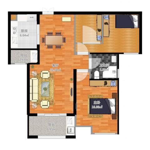 天安曼哈顿1室1厅1卫1厨88.86㎡户型图