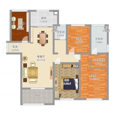 金鹰国际公馆4室2厅2卫1厨159.00㎡户型图