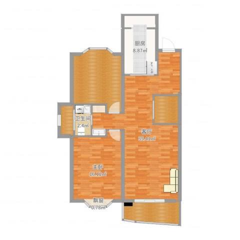 新华世纪园1室1厅1卫1厨108.00㎡户型图