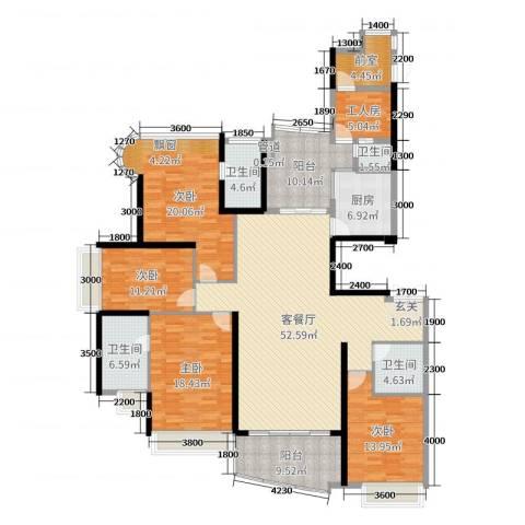 雅居乐曼克顿山4室2厅4卫1厨196.00㎡户型图