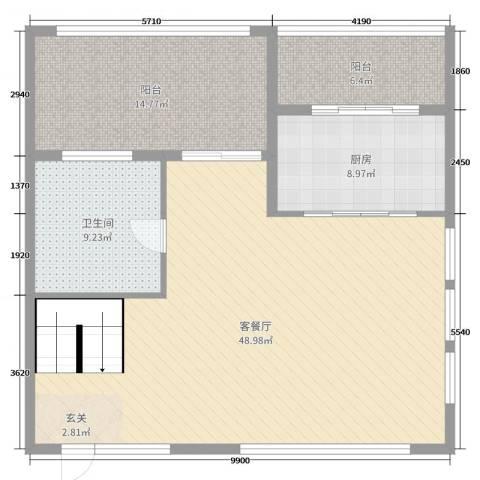 英伦华府2厅1卫1厨115.00㎡户型图