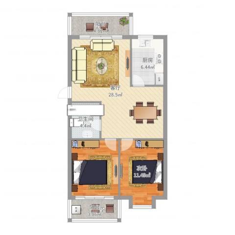 联丰世纪苑1室1厅1卫1厨89.00㎡户型图