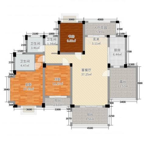 广信百度城Ⅱ大家3室2厅3卫1厨137.00㎡户型图