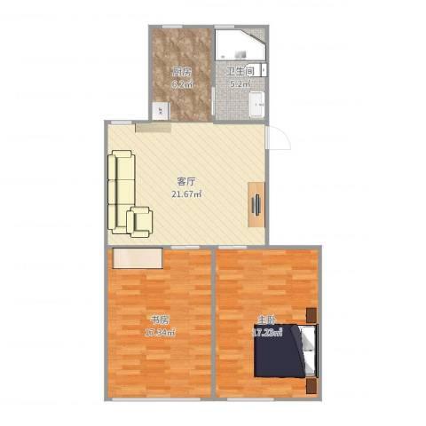 控江绿苑2室1厅1卫1厨85.00㎡户型图
