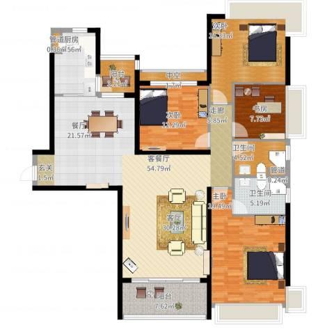 淮安恒大名都4室2厅2卫1厨194.00㎡户型图