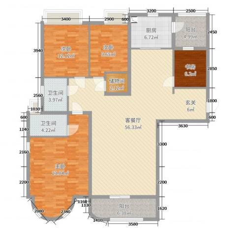 合生滨海城4室2厅2卫1厨169.00㎡户型图