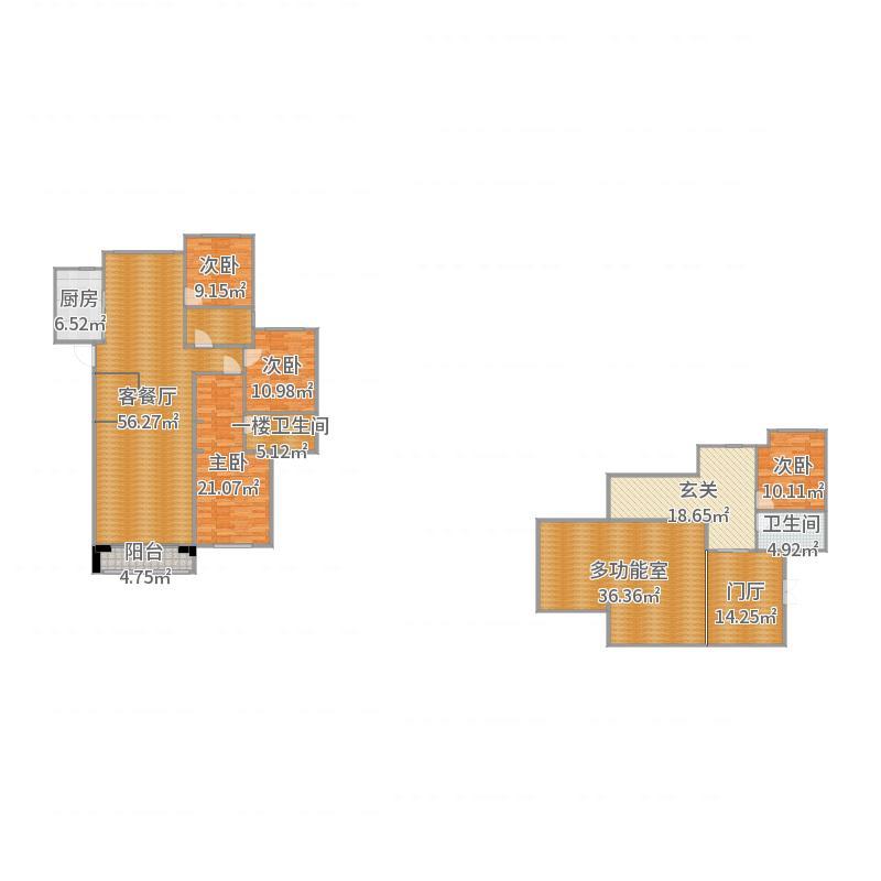 润泽公馆C1复式设计方案