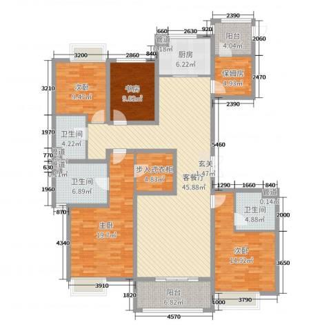 荣盛华府4室2厅3卫1厨178.00㎡户型图
