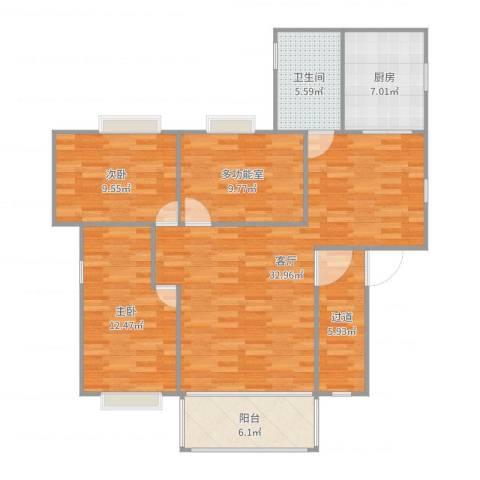 新市新街大院2室1厅1卫1厨112.00㎡户型图